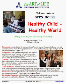 Helping parents to nourish healthy and creative kids: Art of Life Open House, December 2, 2013