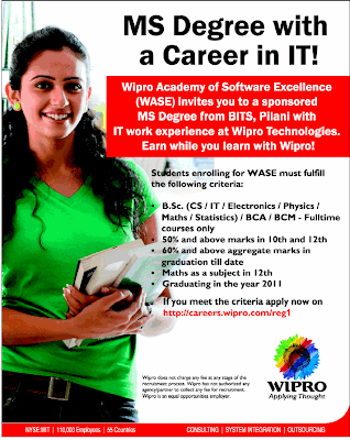 wipro wase - MS degree