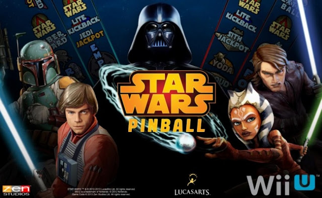 Promotional image for the Wii U eShop version of Star Wars Pinball