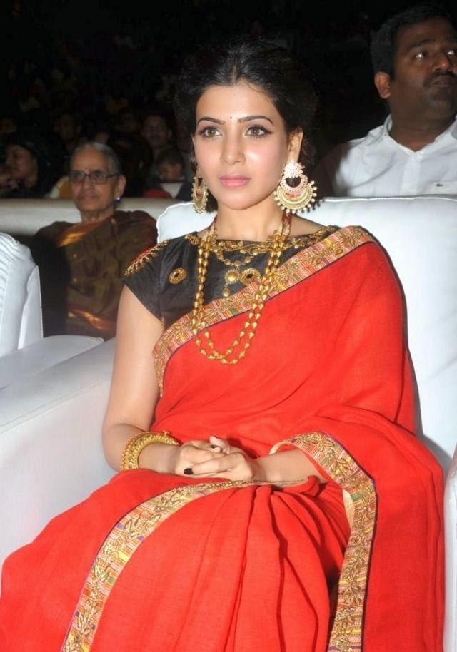 Samantha at Son of Satyamurthy Audio Launch Stills