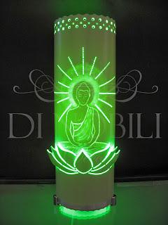 Luminária em pvc - Buda com flor de Lótus