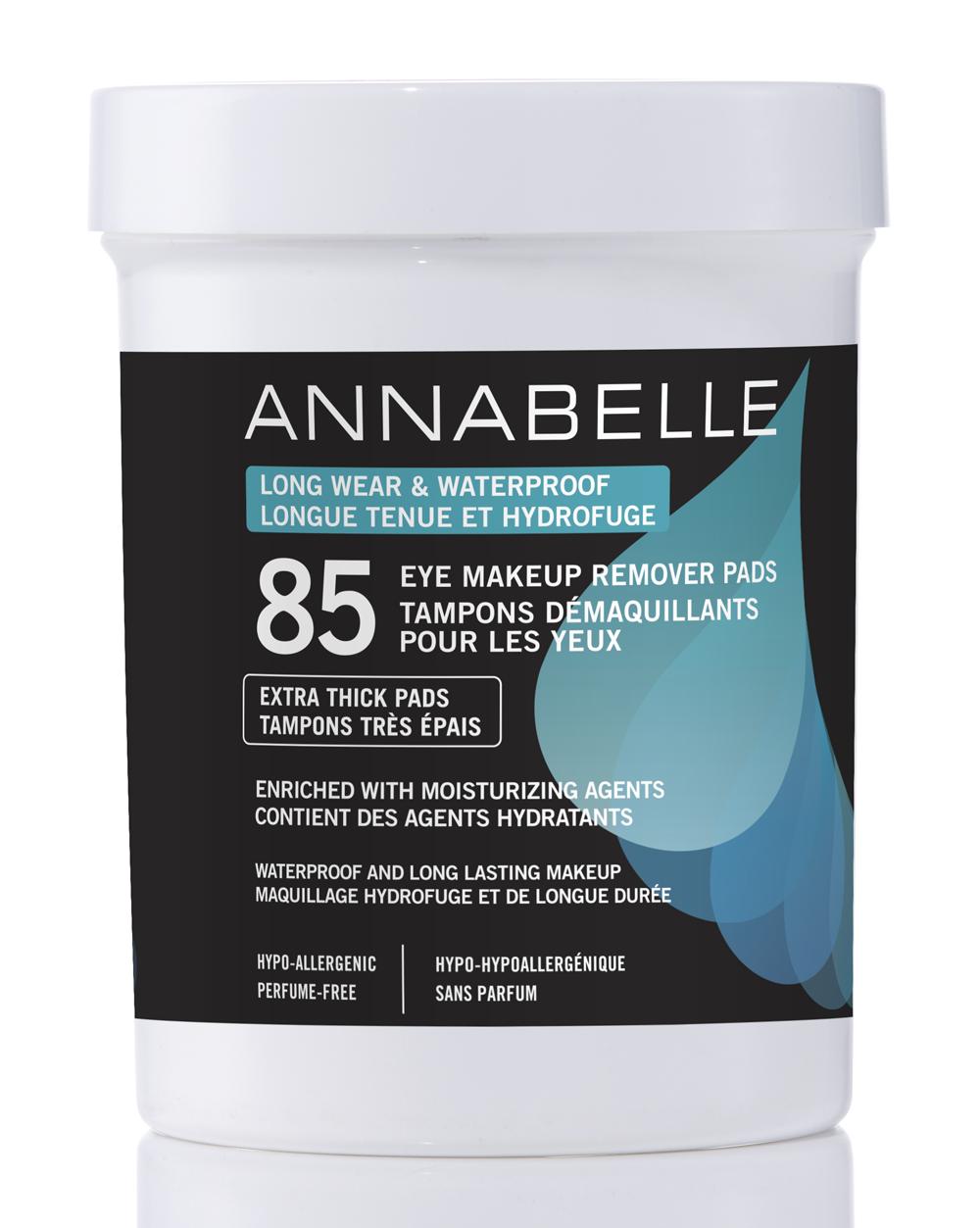 Annabelle Tampons démaquillants pour les yeux longue tenue et hydrofuge