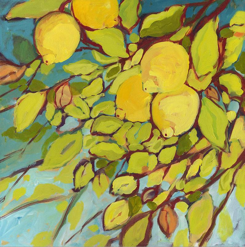 5 Lemons painting by Jennifer Lommers