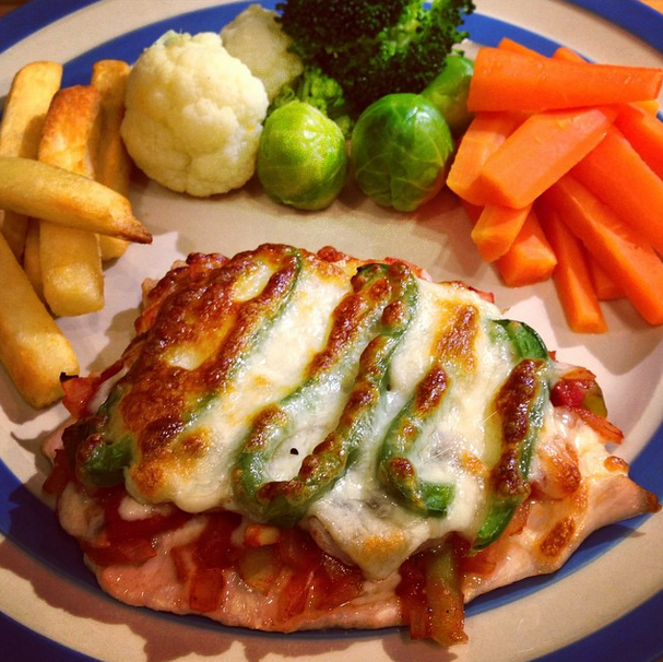 Dots And Spots Weekend Recipe Pizza Topped Chicken