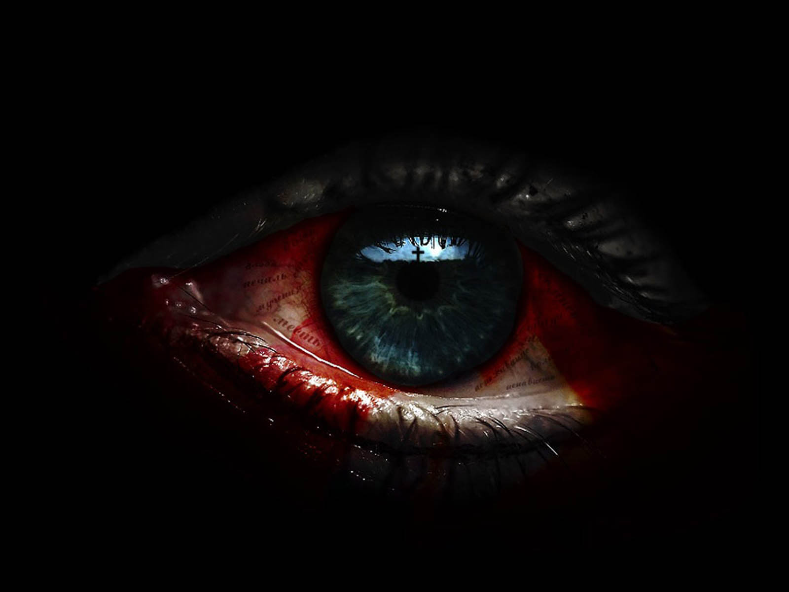wallpaper horror eye wallpapers
