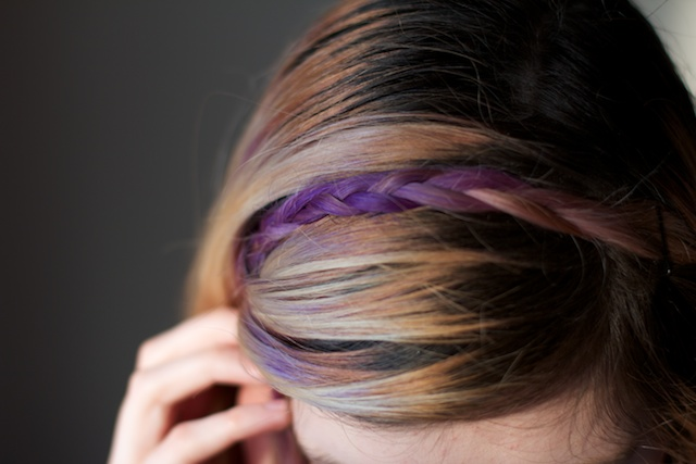 ombre purple hair gradient