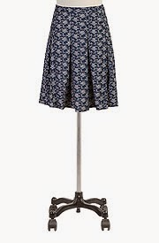 Two-tone floral print skirt