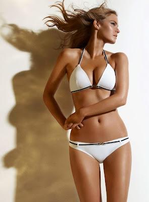 Jessica Perez for Simons bikini photohoot
