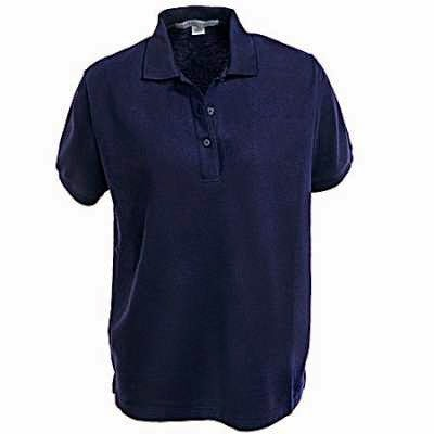 Port Authority L500 Ladies Silk Touch Light Blue Knit Polo Shirt