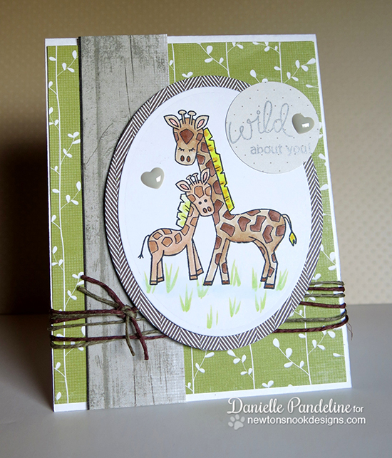 Wild about You giraffe card by Danielle Pandeline for Newton's Nook Designs | Wild Child Stamp Set
