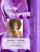 memorial invitation card