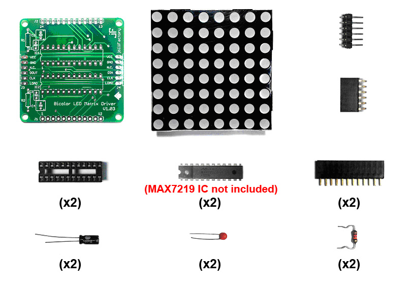 Assembled LED Matrix Driver Modules Can Be Chained Together To Make Up A Longer Display