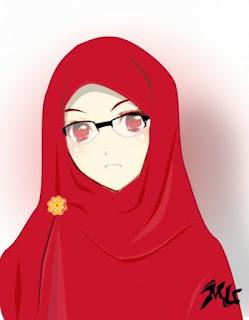 Wanita muslimah pakai hijab lagi sedih