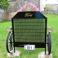 {Photo of Ford Model-T garden gate.