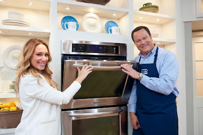 In The QVC Kitchen With Haylie And David. Haylie Duff With David Venable