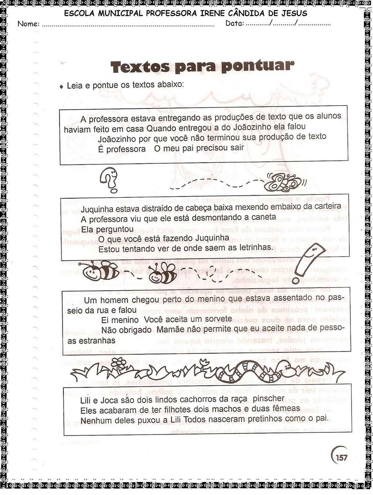 Populares Blog Educacional (Profª. Jezaine): Sinais de pontuação 4º ano IS53