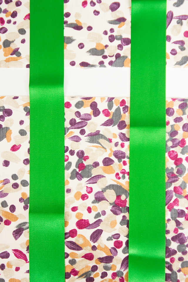 fabric and ribbons for tote