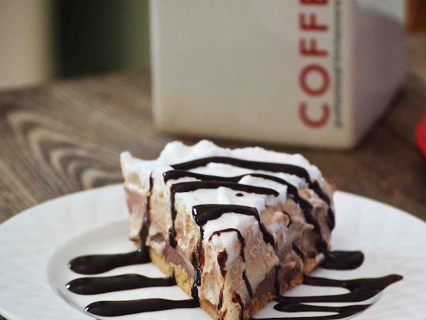 Skinny Hazelnut Mocha Latte Ice Cream  Pie  ~ Sundays With Joy~