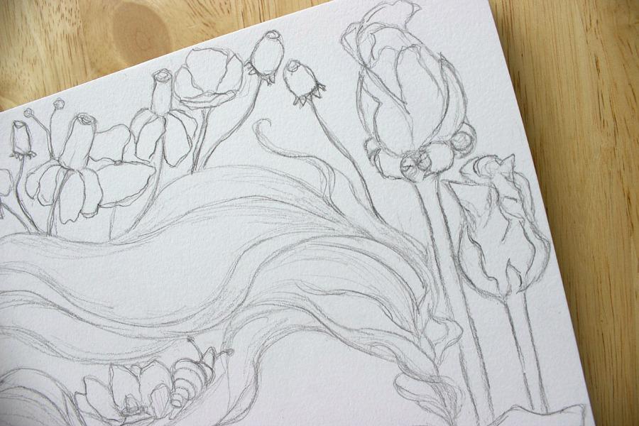 Flower Child Line Drawing : Miss danielle renee june visual journal prompt week flower child