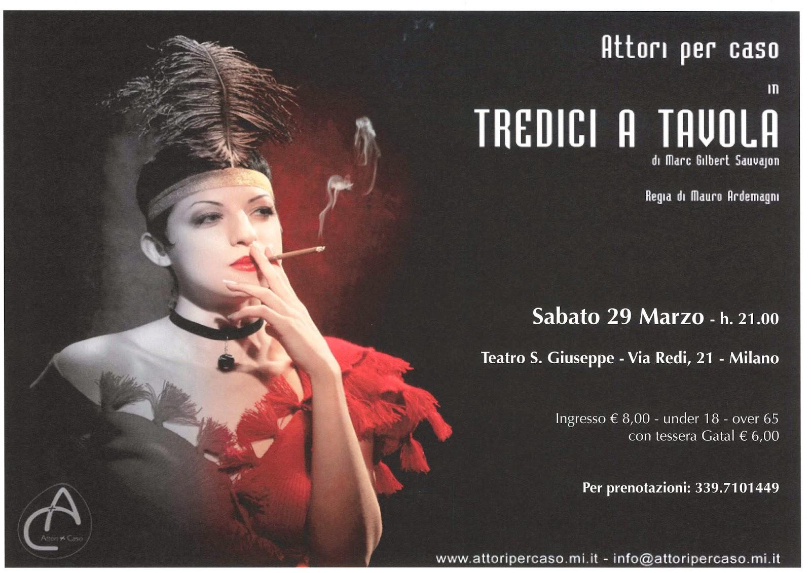 Teatro redi marzo 2014 - Tredici a tavola superstizione ...