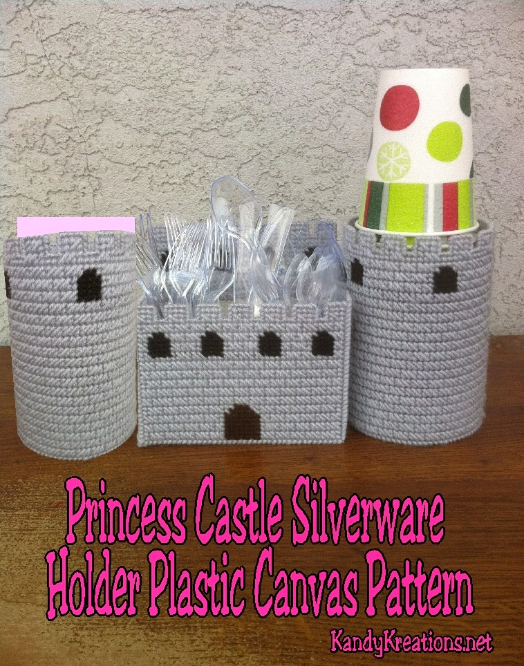 Princess Castle Silverware Holder Plastic Canvas Patterns