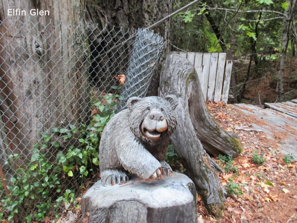 Humboldt nation elfin glen chainsaw carvings highway