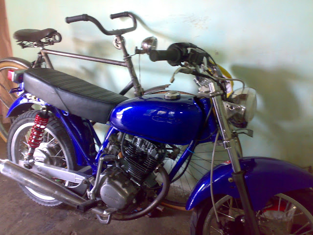 MOTOR HONDA CB 100-BLUE FRESH