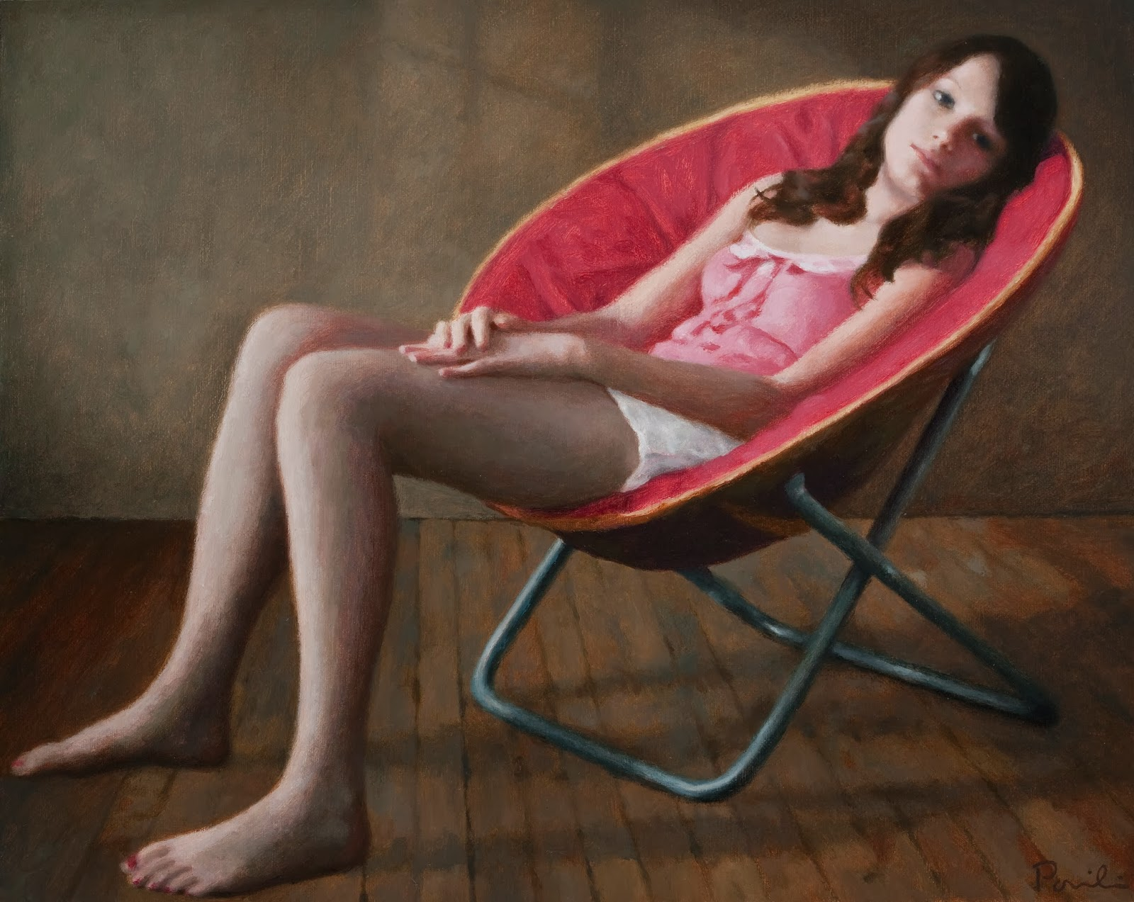 The Figure In Light Haley in a Round Chair