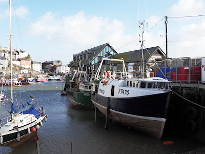 Where fish are landed at Mevagissey Cornwall