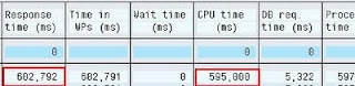 STAD CPU time, response time