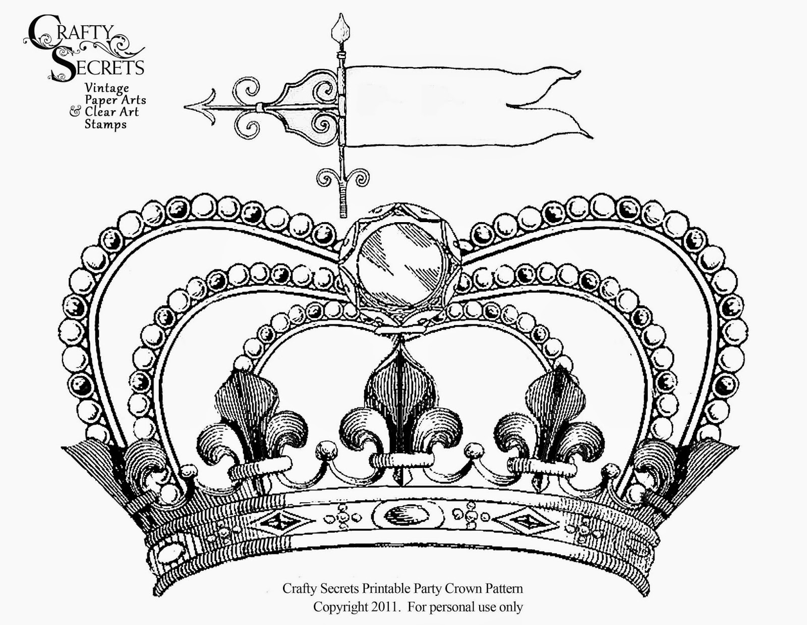 contemporary cardboard crown template pattern examples