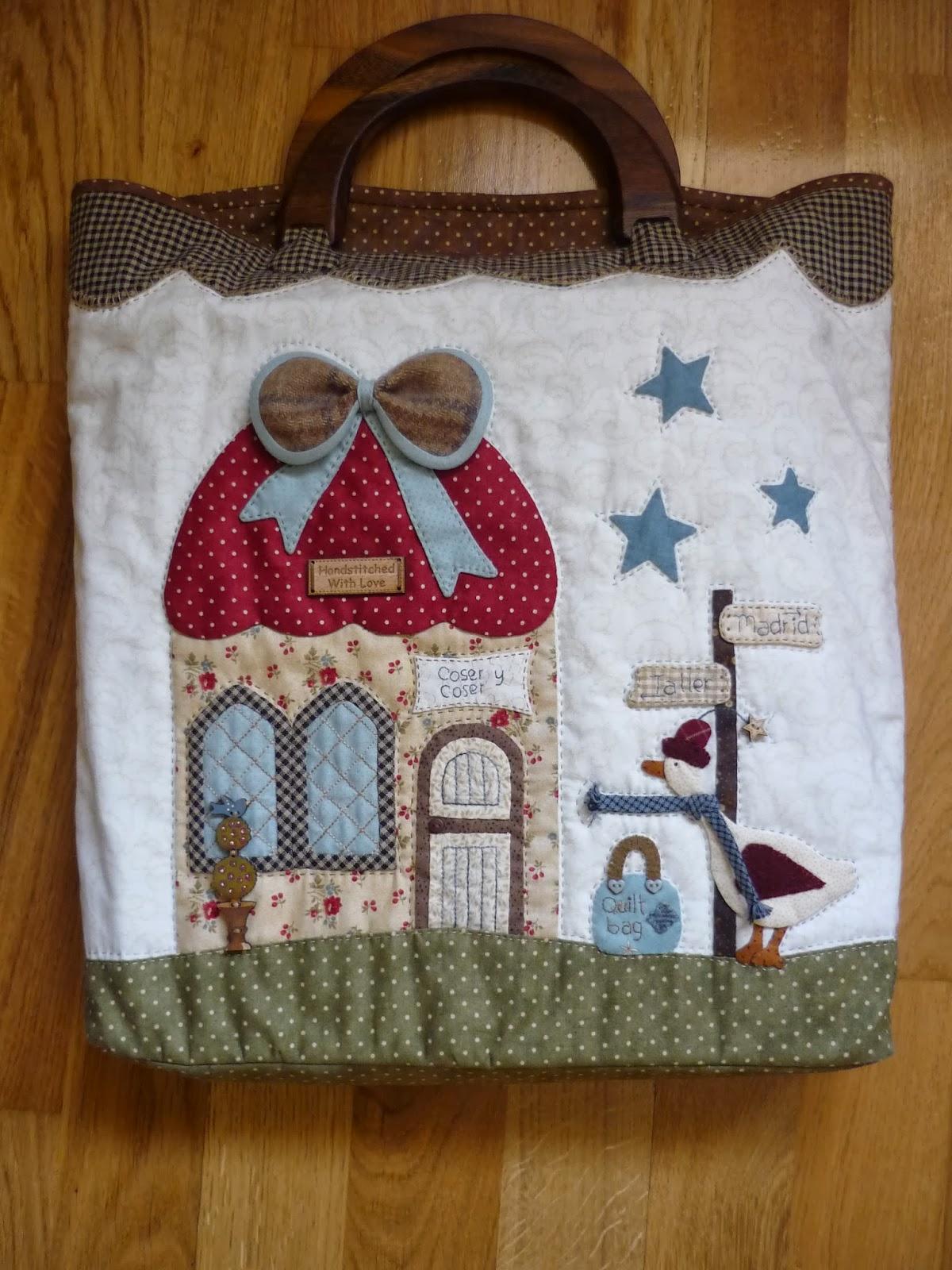 Coser y coser patchwork bolso para mi agenda - Manualidades patchwork bolsos ...