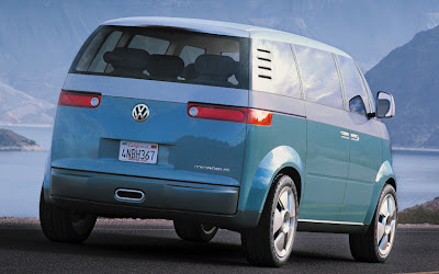vw bus 2014 rear view