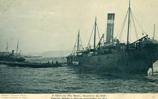 PORTO CHEIA DO RIO DOURO  DE 1909