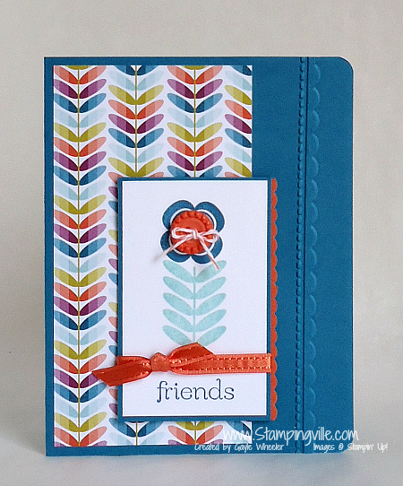 Stampin' Up! Sale-a-bration Madison Avenue Stamp Set Friends Card