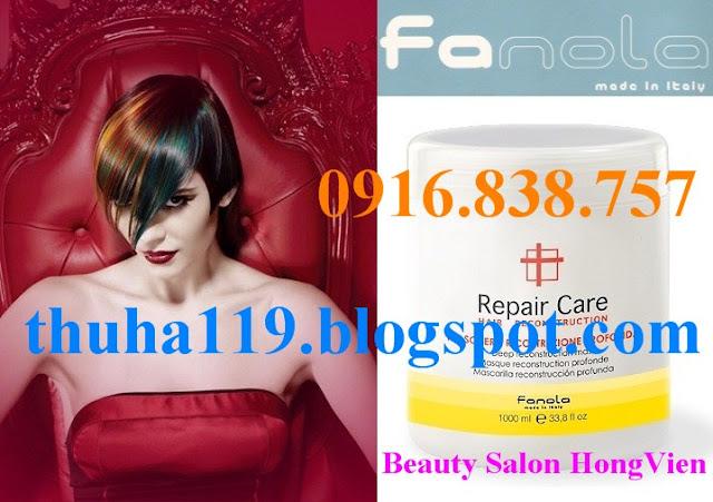 Hấp dầu Fanola Repair Care - Chăm sóc tóc hư tổn nặng - Made in Italy