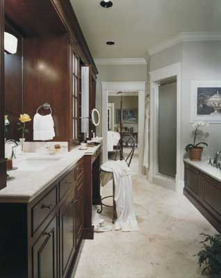 bathroom all you have to do is buy some lighter colored paint and use