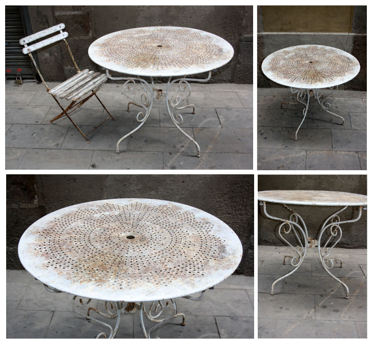 antic beauty: MESA DE JARDIN - TAULA JARDI