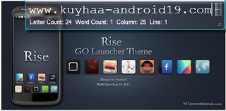 RISE GO LOUNCHER EX  THEME 1.0 FOR ANDROID