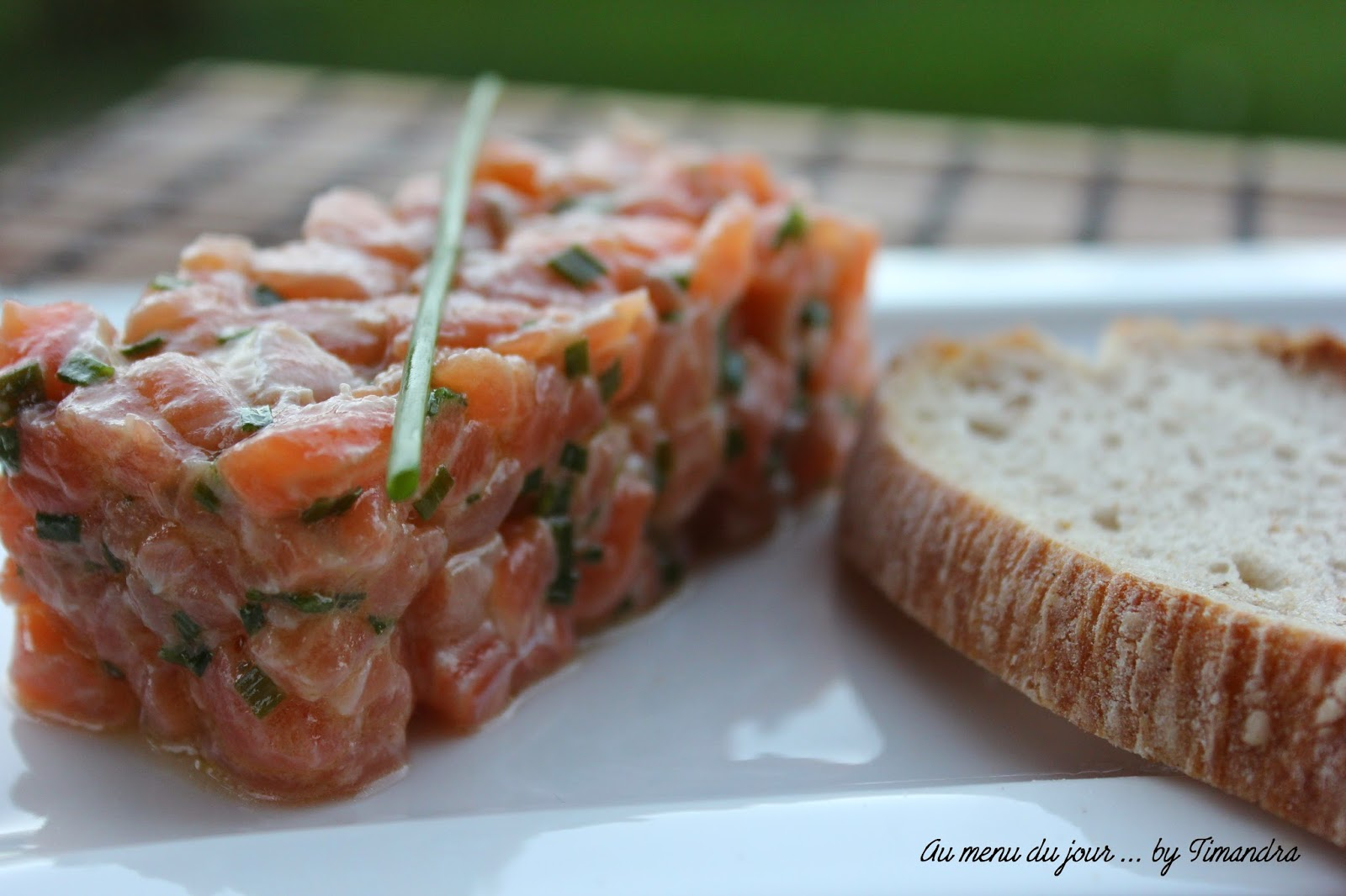Tartare de saumon - Au Menu Du Jour by Timandra