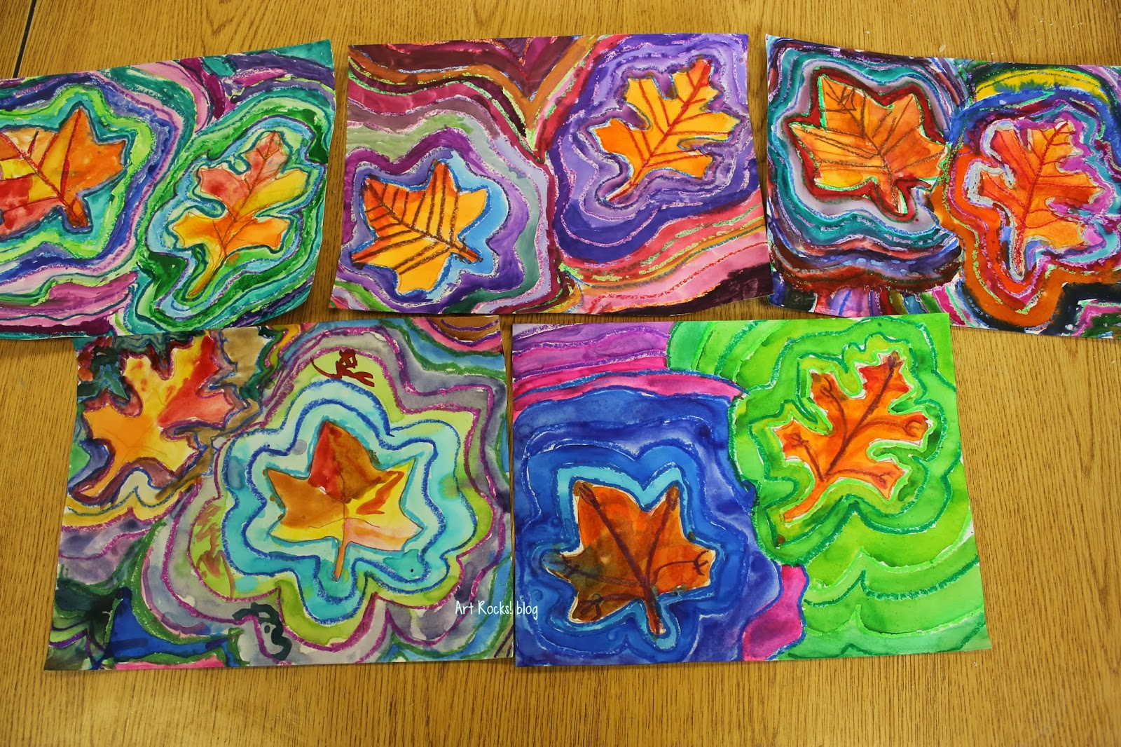 Line Art Grade 1 : Art rocks grade leaves and lines resist