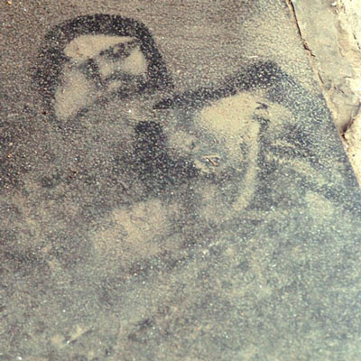 Jesus found in cement floor
