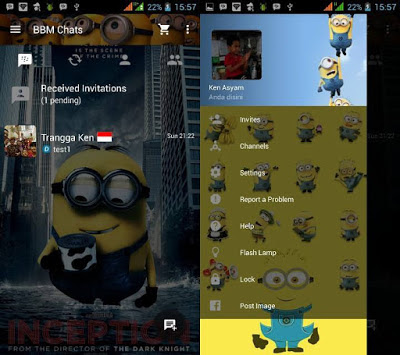 Finally Mod Blackberry Messenger application to the topic of this script has been acquaint Download Mod BBM Minion Versiaon 2.10.0.31 Apk Latest