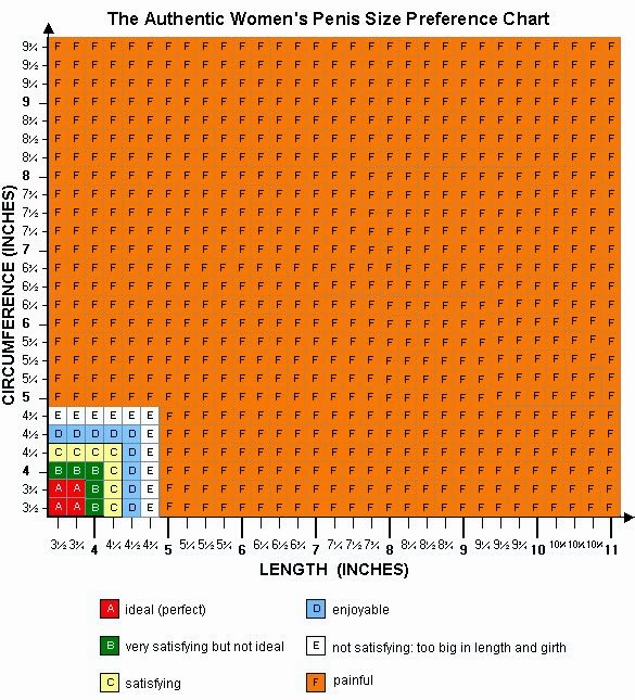 The Ideal Penis Size - The Penis Size Preference Chart