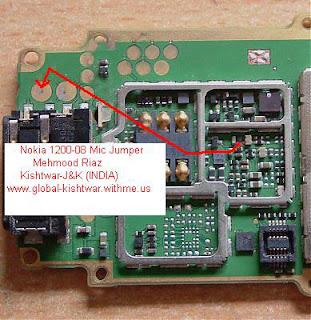 Trik Jumper Mic Nokia 1208