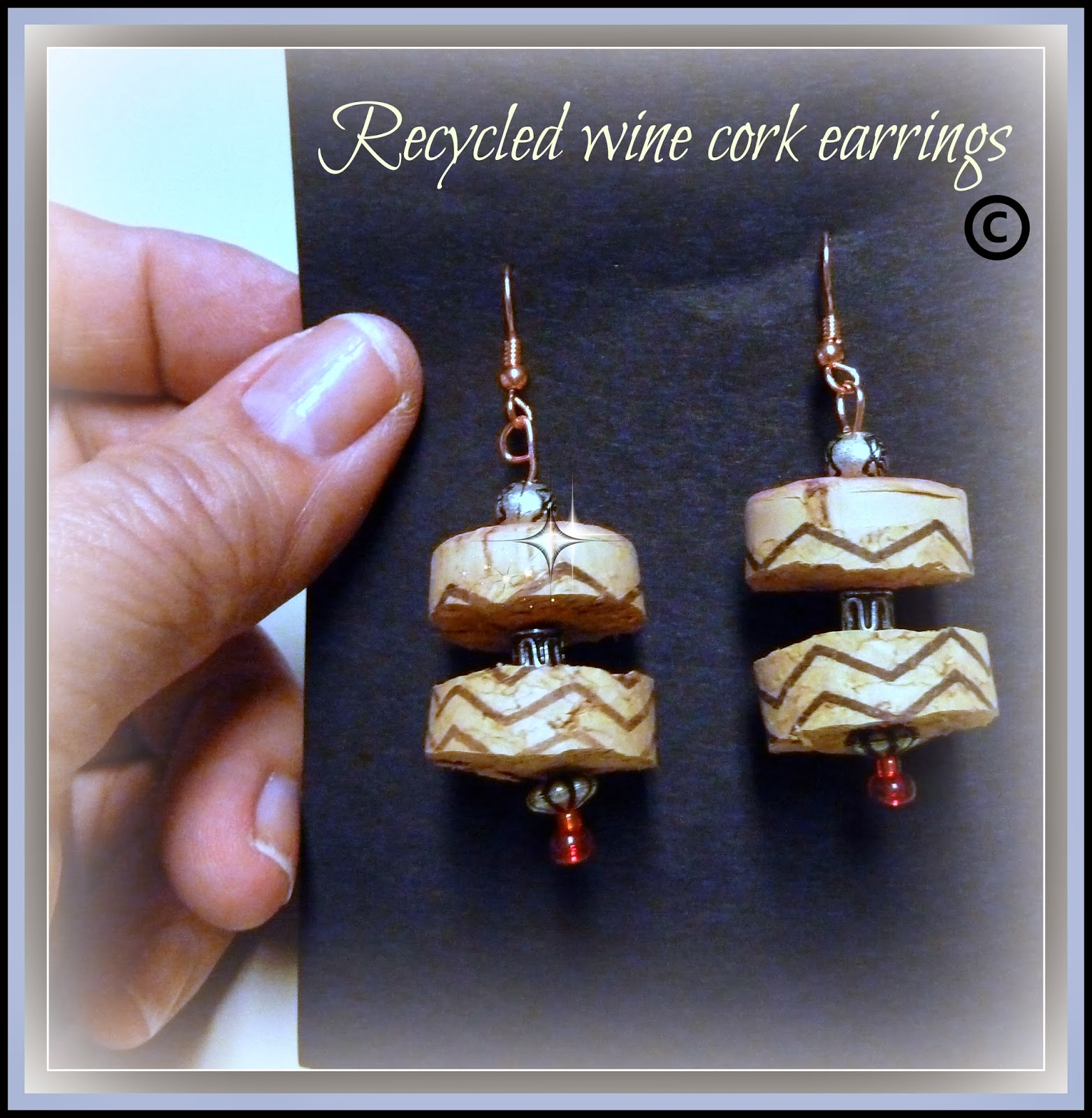 Make it easy crafts recycled wine cork earrings tutorial for Crafts with wine bottle corks