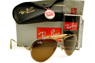 Rayban Diamond Hard Frame Gold With Brown Lens Brown