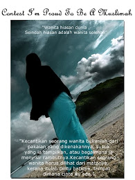 """Contest I'm Proud To Be A Muslimah"""