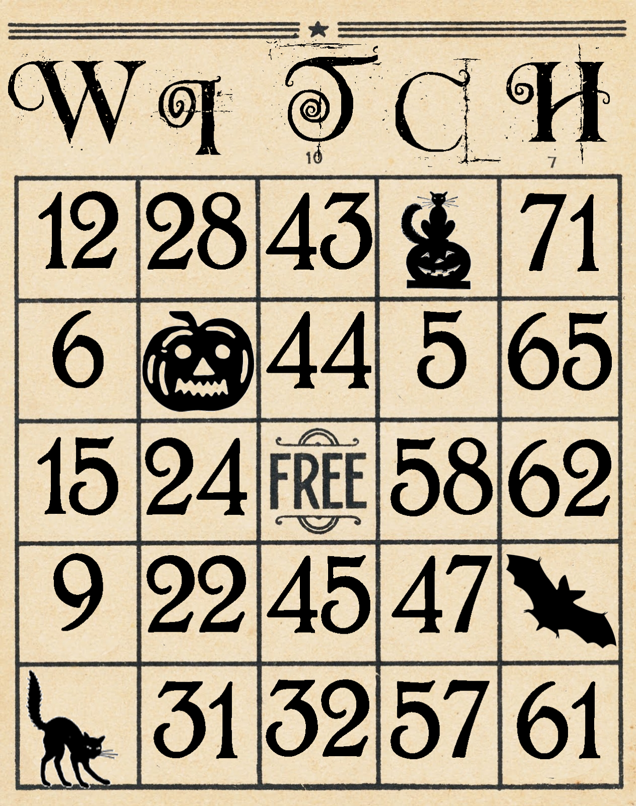Lucrative image intended for free printable halloween bingo cards