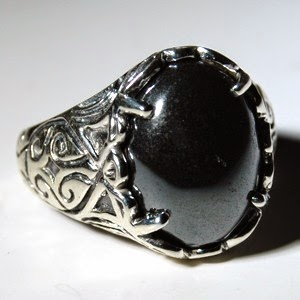 Hematite Stone Ring Sample